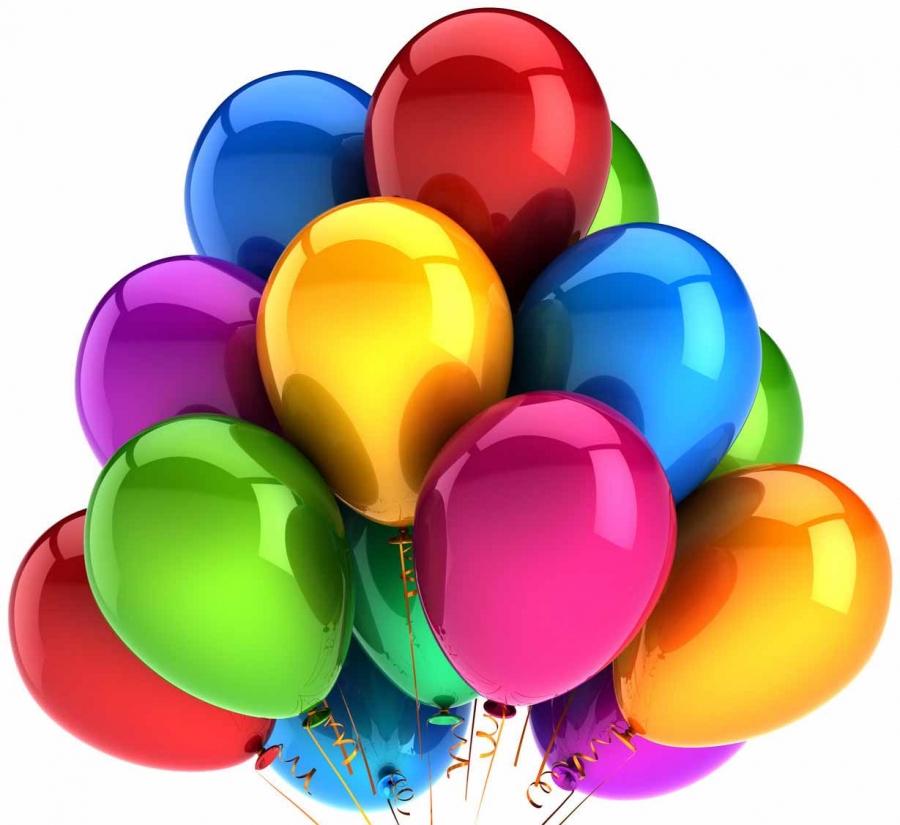 Картинка шарики к дню рождения