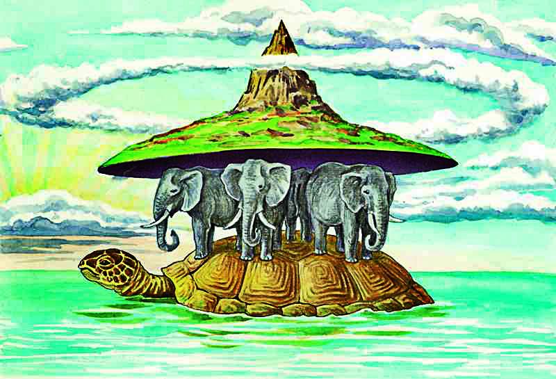 картинка земля на трех слонах китах и черепахе чтобы отдых