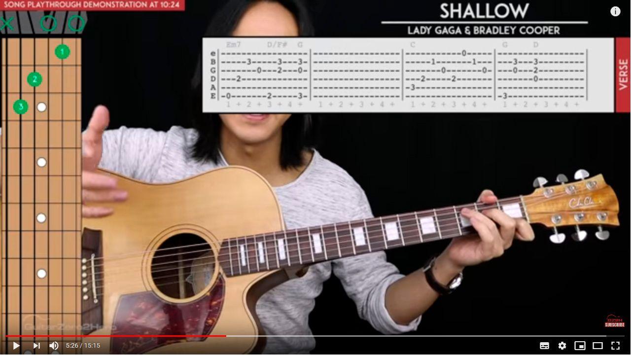 Lady Gaga ''SHALLOW''/ Chords  - @mrbamble - GoldVoice club