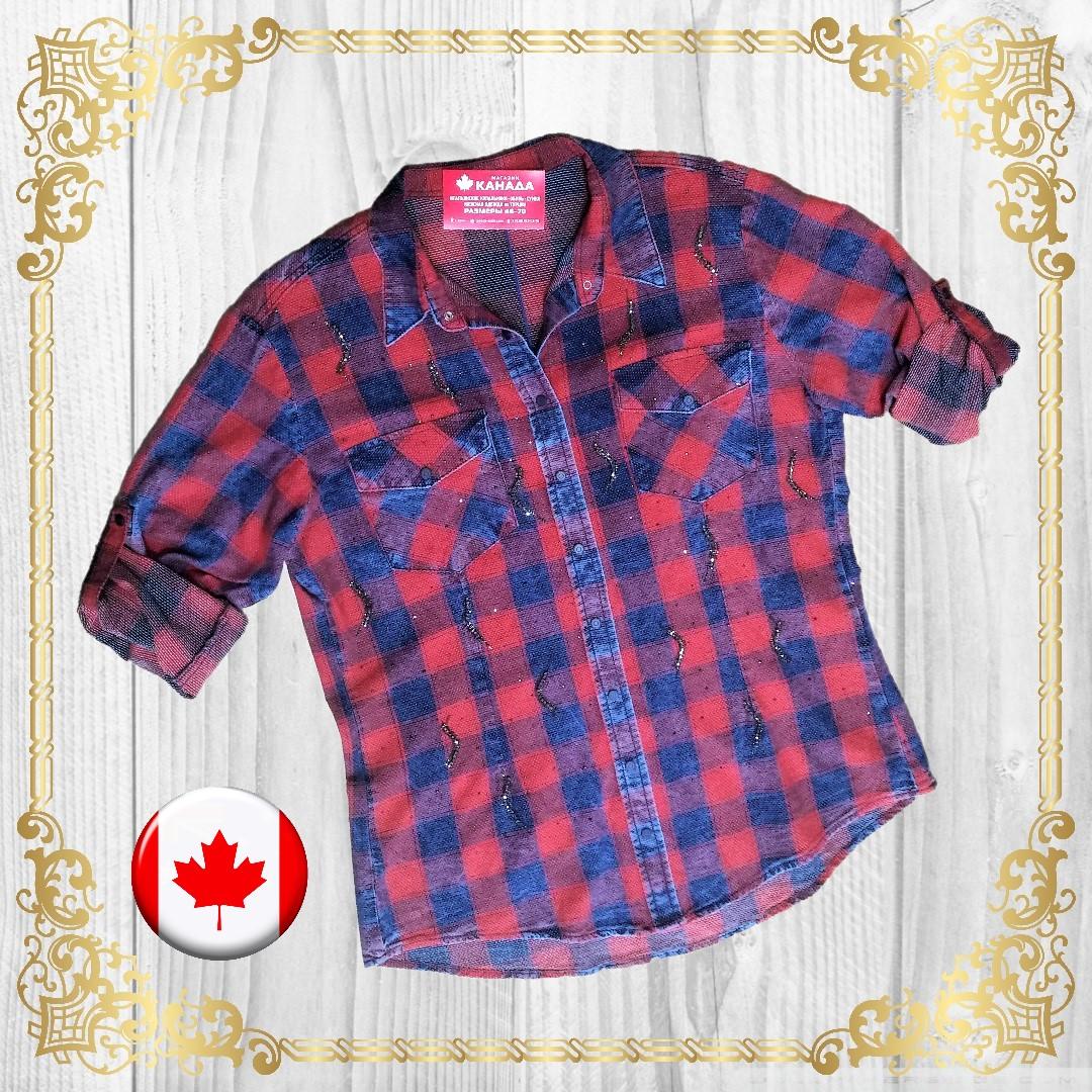 Магазин женской одежды в Сочи - джинсовая рубашка со стразами из Турции от 48 до 54 размера - женская одежда больших размеров в Сочи