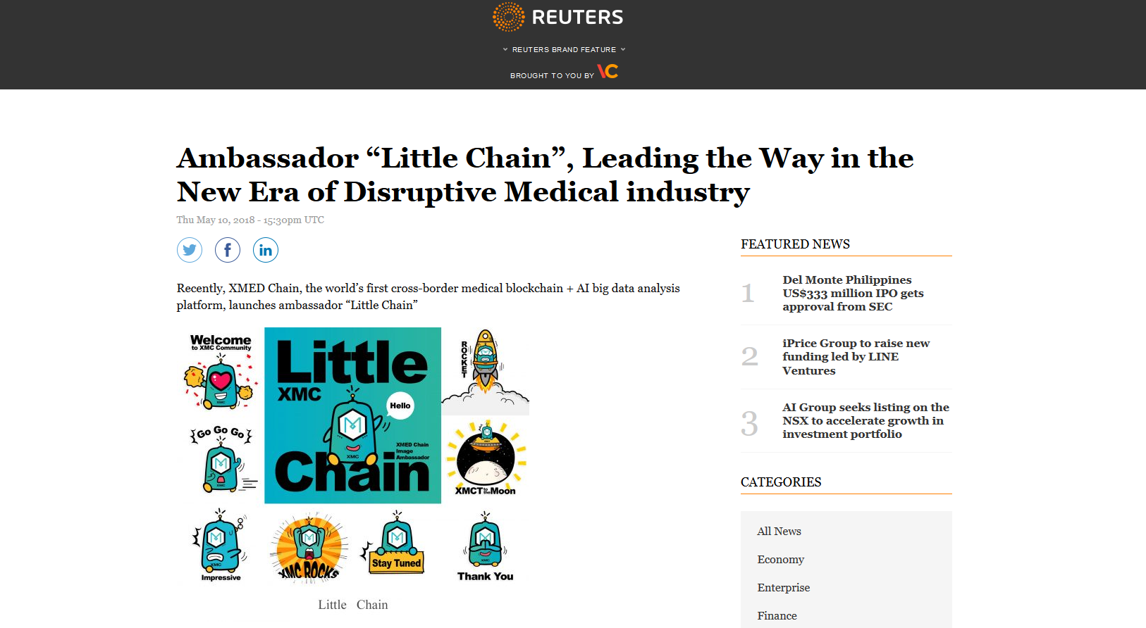 """Screenshot-2018-6-4 Ambassador """"Little Chain"""", Leading the Way in the New Era of Disruptive Medical industry - Reuters.png"""
