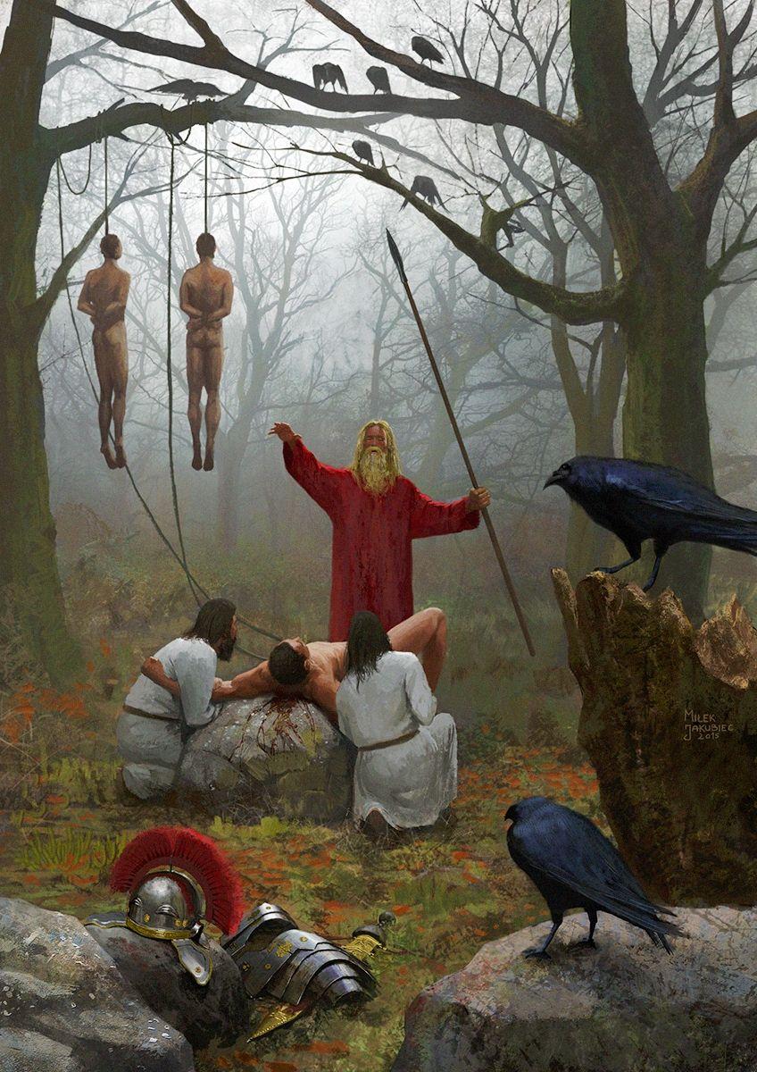 Ритуальное принесение в жертву римских легионеров после битвы в Тевтобургском лесу.jpg