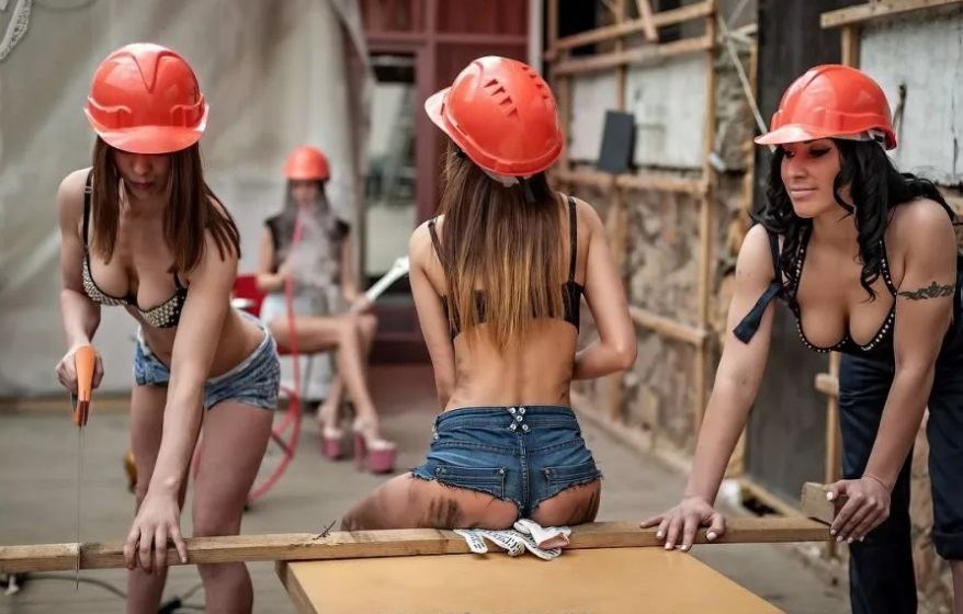 Sexy construction women