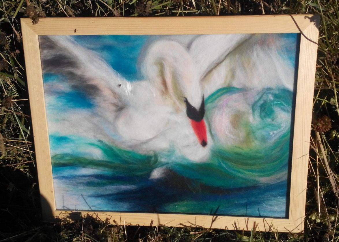Картина лебедь