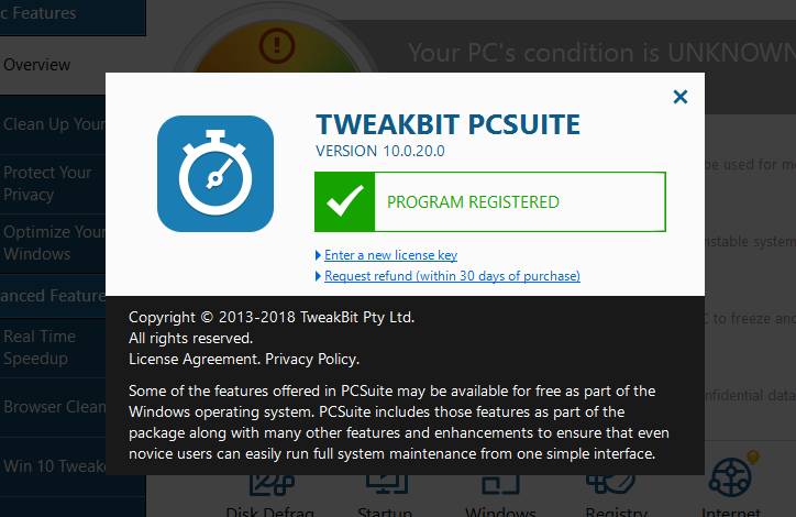 is tweakbit pcspeedup safe