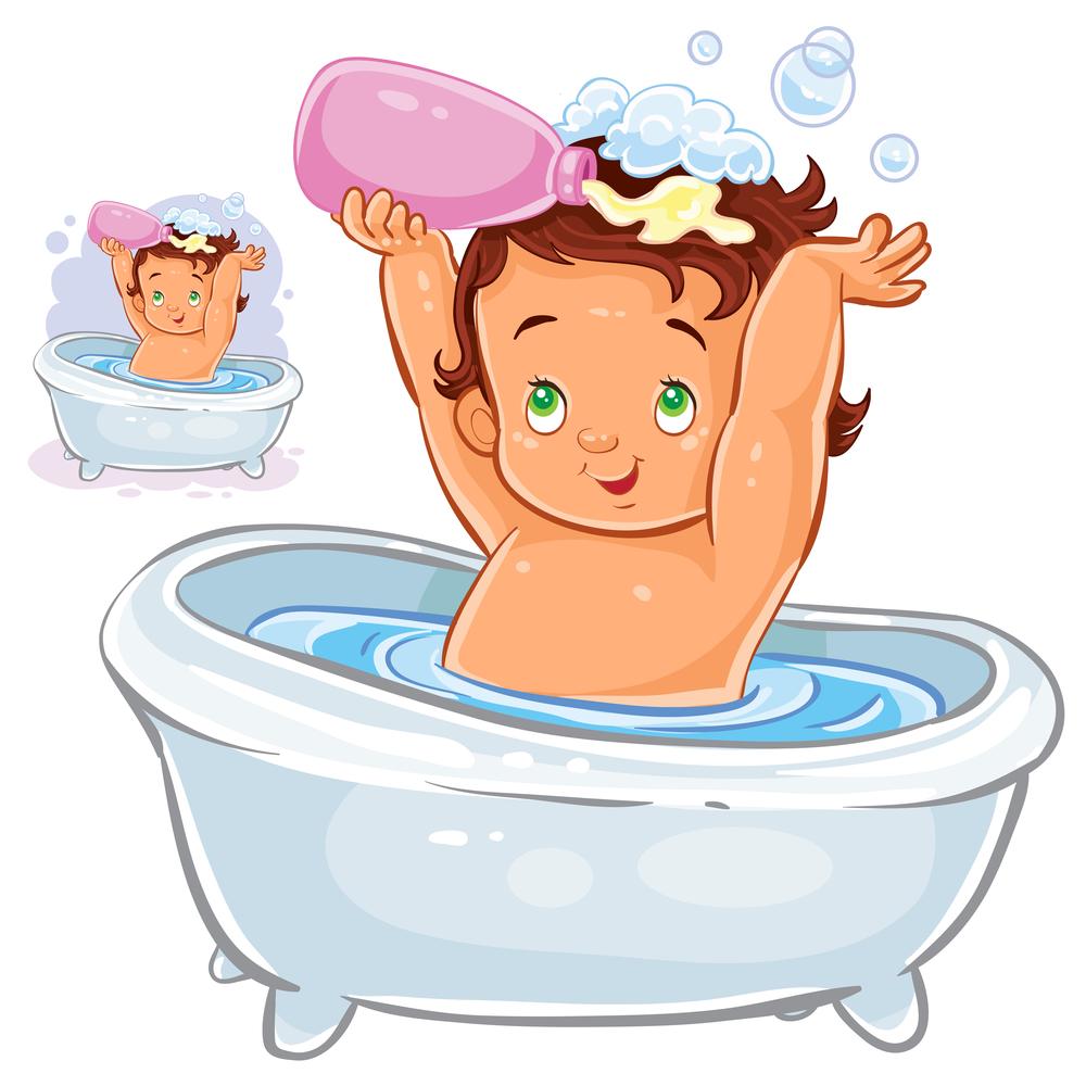 Купание в ванне картинка