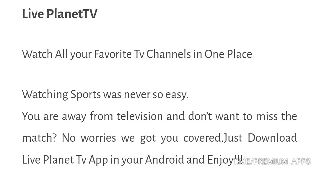 ⚡️Live PlanetTV v1 3 [ad- free] APK is Here ! [Latest