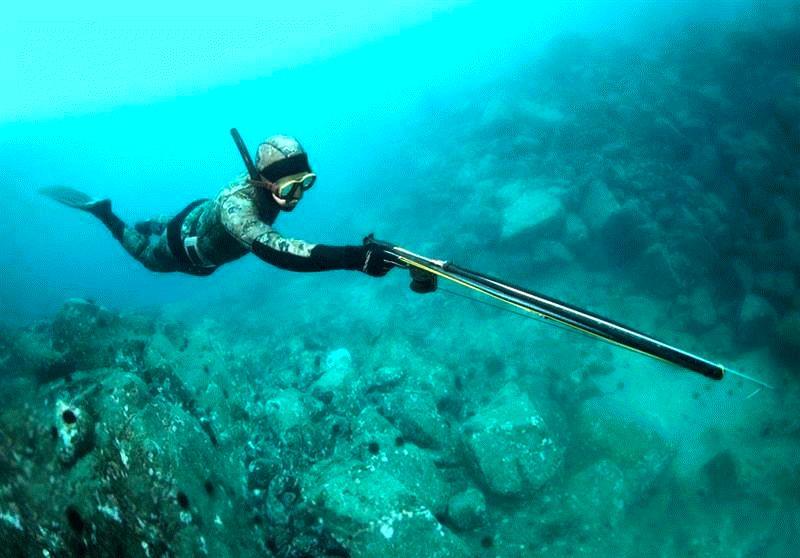 Подводная охота в Чёрном море.