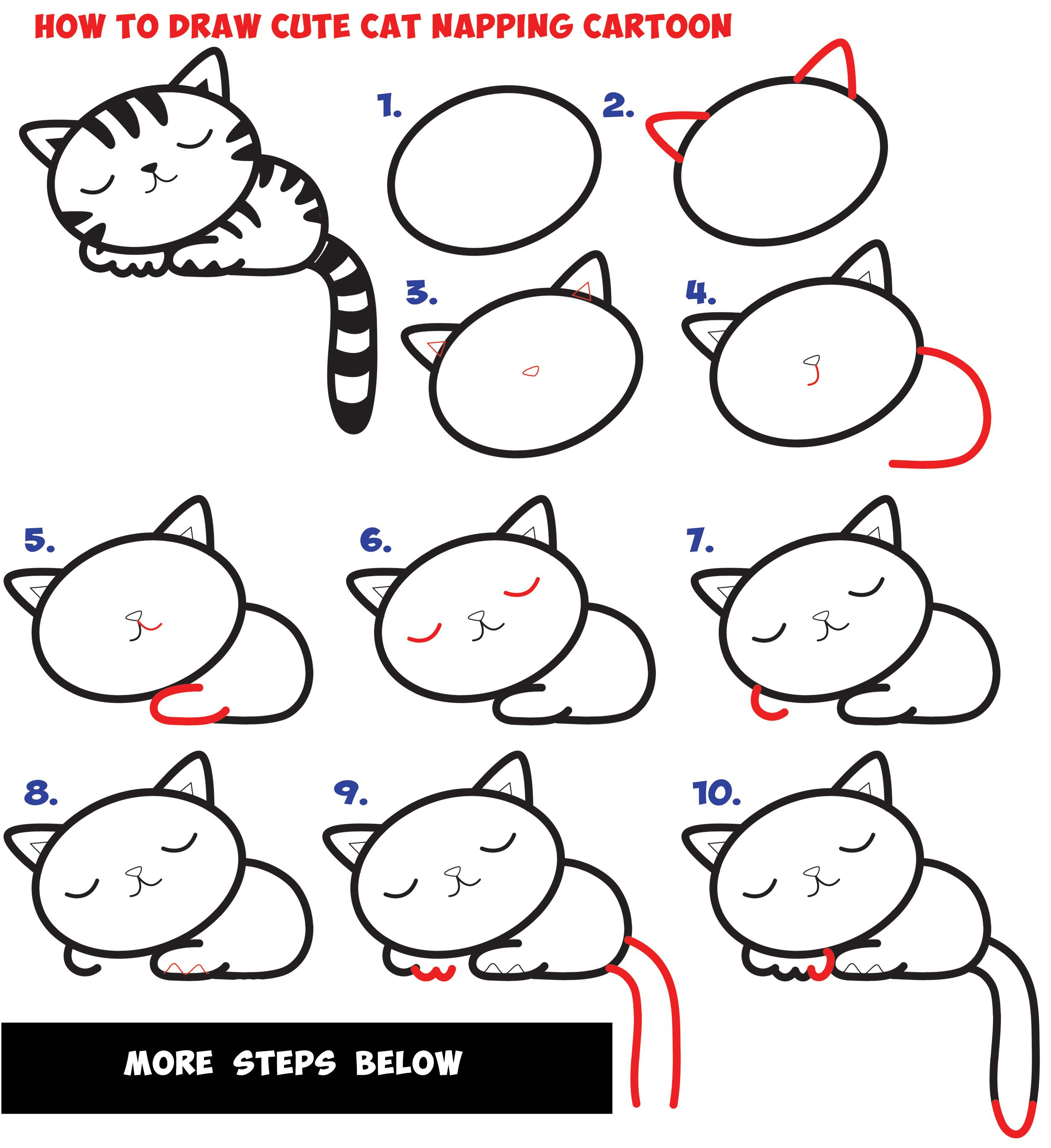how to draw a cute cartoon cat wikihow - HD 2500×2730
