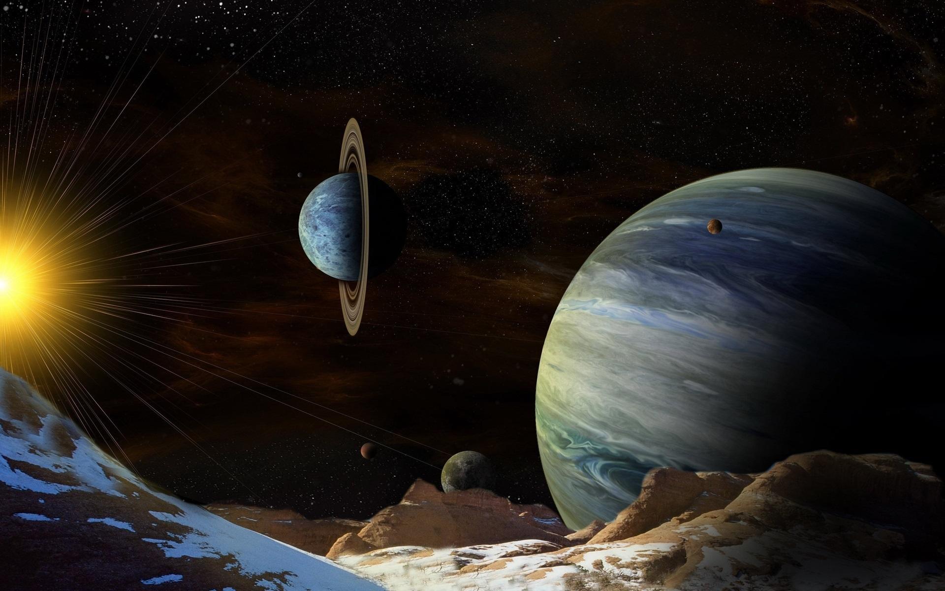 фантастические картинки планет солнечной системы почвам