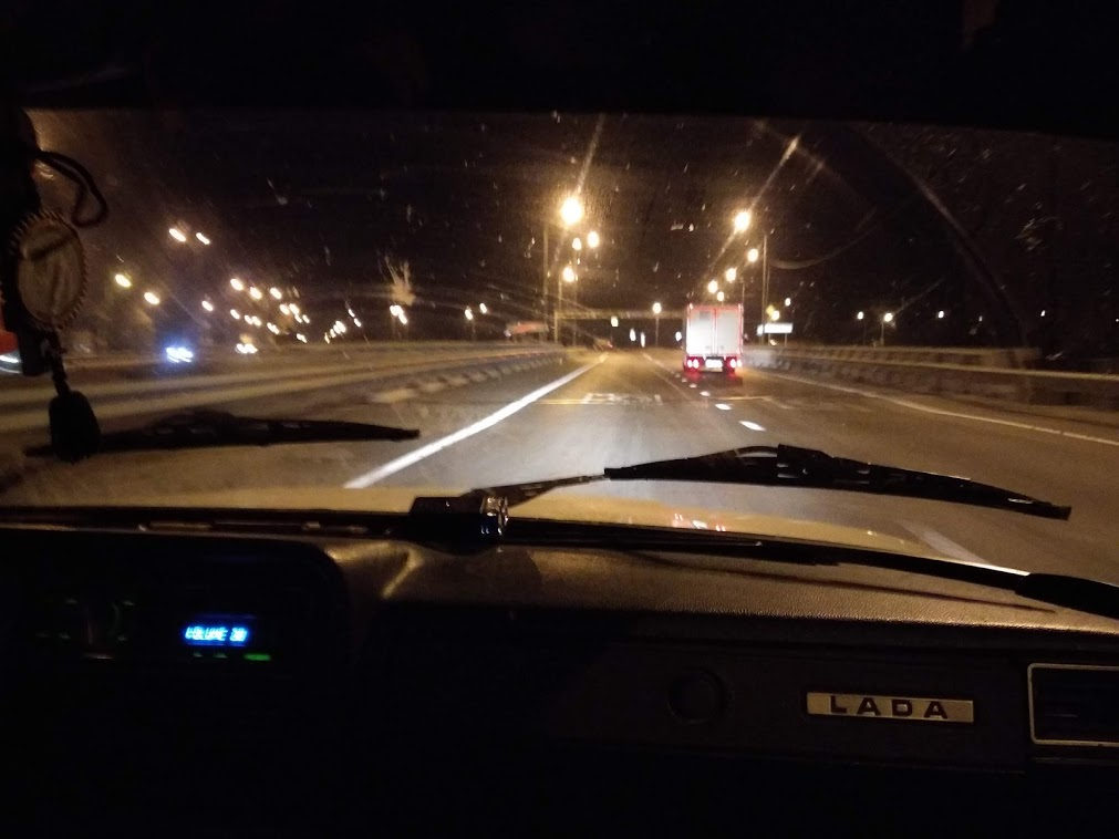Фото ночного краснодара из машины
