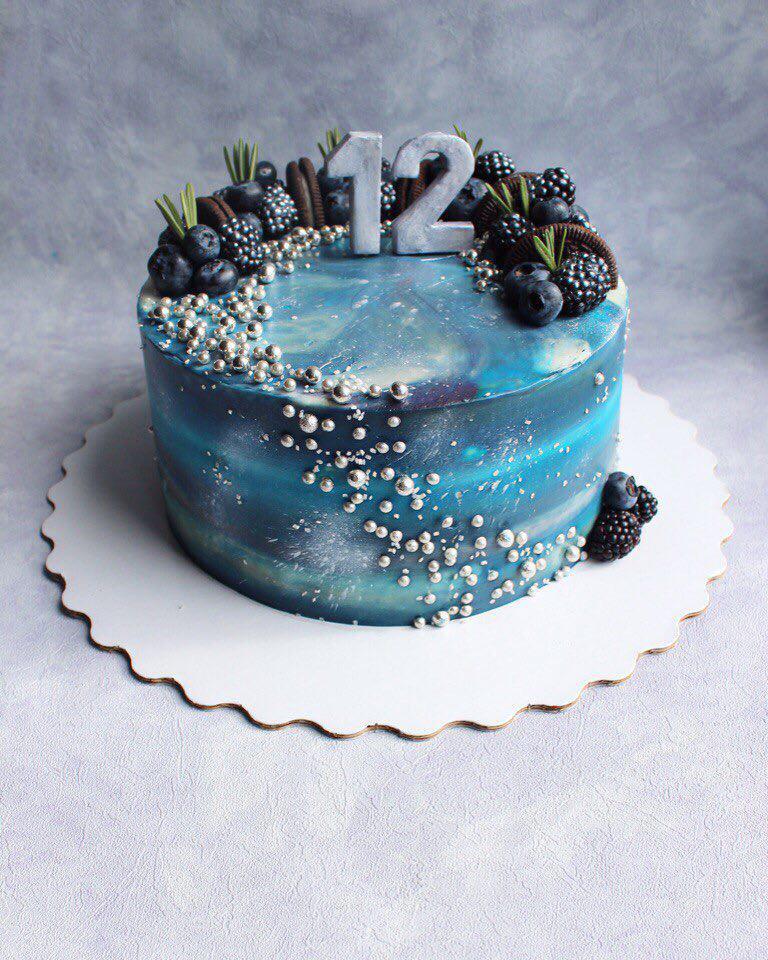 Как сделать космос торт 682