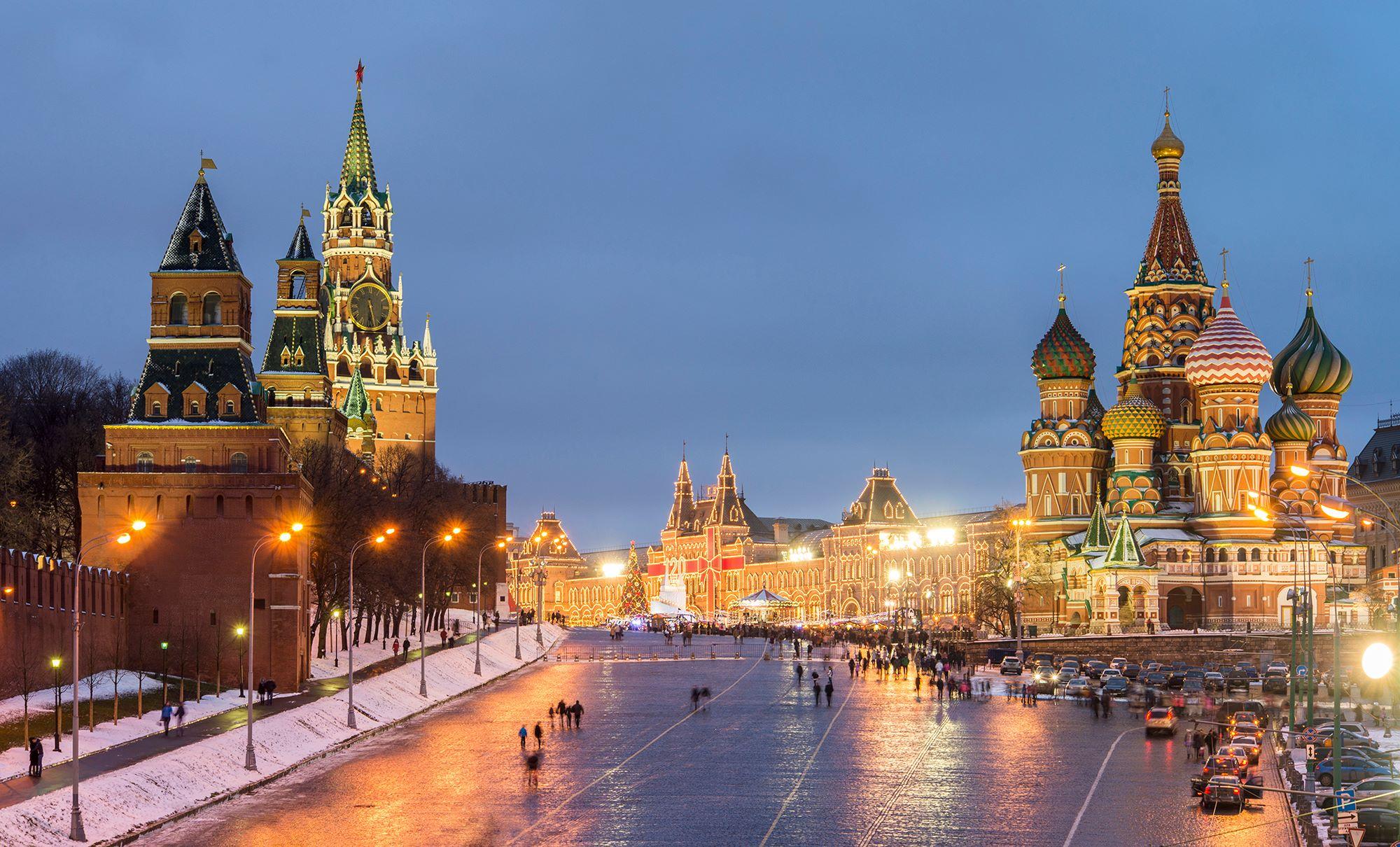 "Конкурс ""Храмы и Вокзалы"". Храмы Москвы ночью..."