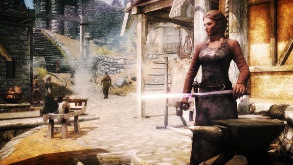 town sky girls anvil swords the elder scrolls v skyrim forge 1920x1080 wallpaper_www.miscellaneoushi.com_44.jpg
